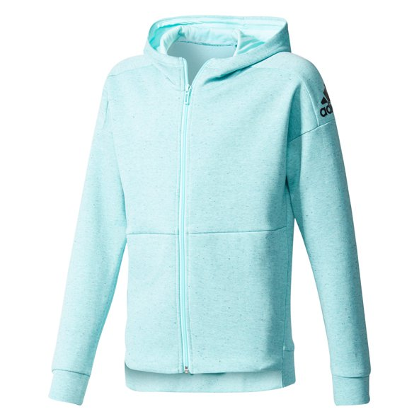 adidas ID Stadium Full Zip Girls' Hoody, Blue