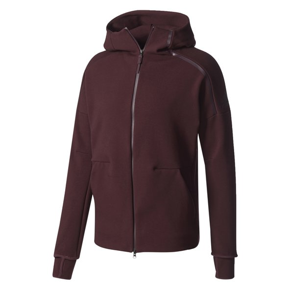 adidas Z.N.E. 2.0 Men's Full Zip Hoody, Burgundy