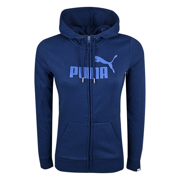 Puma Ess No.1 Logo Women's Full Zip Hoody, Blue/Lilac