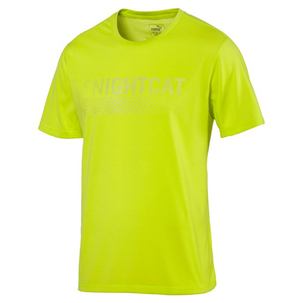 Puma NightCat Men's T-Shirt, Yellow