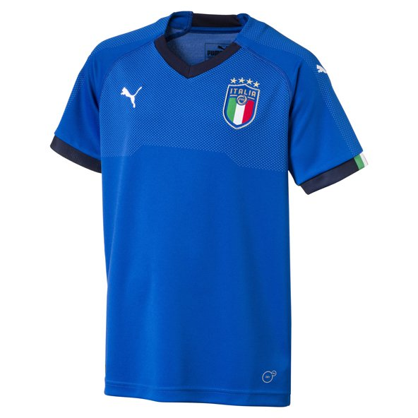 Puma Italy 2017/18 Kids' Home Jersey, Blue