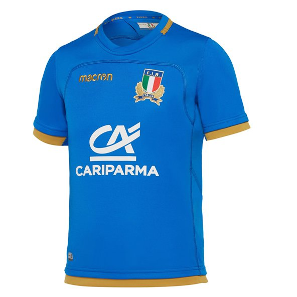 Macron Italy 2017/18 Kids' Home Jersey, Blue