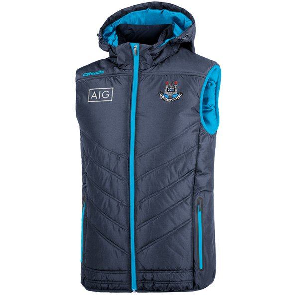 O'Neills Dublin Slaney Men's Hooded Gilet, Navy