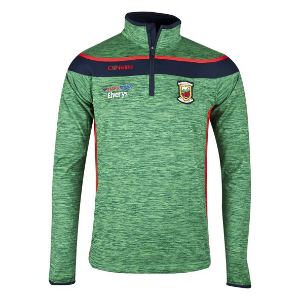 O'Neills Mayo Slaney Men's ½ Zip Brushed Top, Green