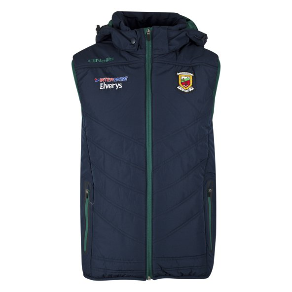 O'Neills Mayo Slaney Men's Hooded Gilet, Navy