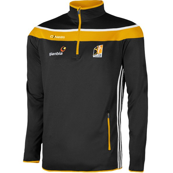O'Neills Kilkenny Slaney Men's ½ Zip Squad Top, Black