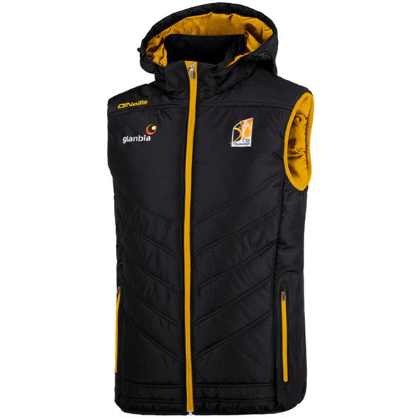 O'Neills Kilkenny Slaney Men's Hooded Gilet, Black