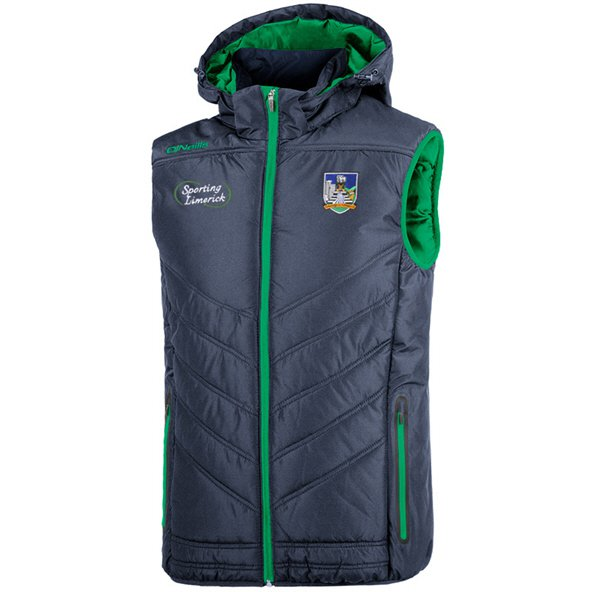 O'Neills Limerick Slaney Men's Hooded Gilet, Navy