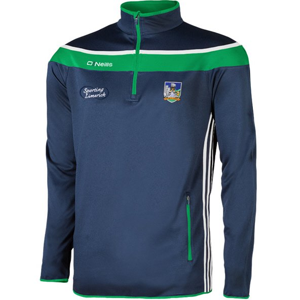 O'Neills Limerick Slaney Kids' ½ Zip Squad Top, Navy