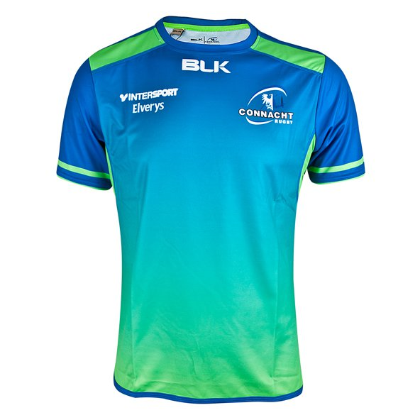 BLK Connacht 17 Kids Euro Trn Tee Royal