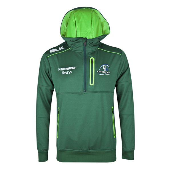 BLK Connacht 2017 Kids' QZ Performance Hoody, Green