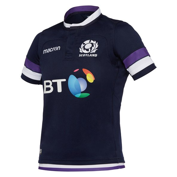 Macron Scotland Home 17 Kids Jersey Blue