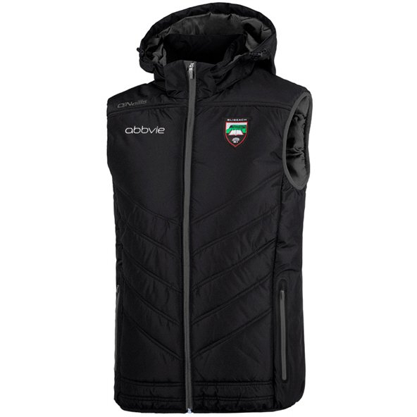 O'Neills Sligo Slaney Men's Hooded Gilet, Black
