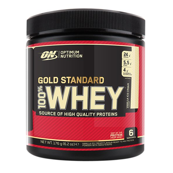 On 100% Whey Gold Trial Pack Stawberry