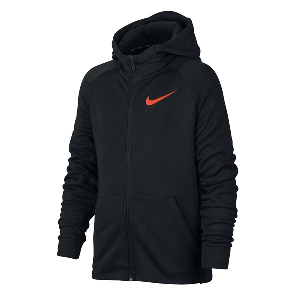 Nike Dry Fleece FZ Boys Hoody Black/Crim