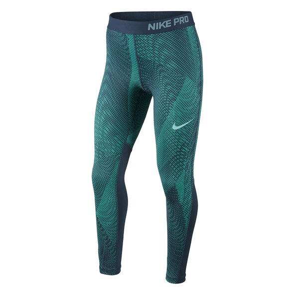 Nike Pro Cool Aop3 Girls Tight Green/Blu