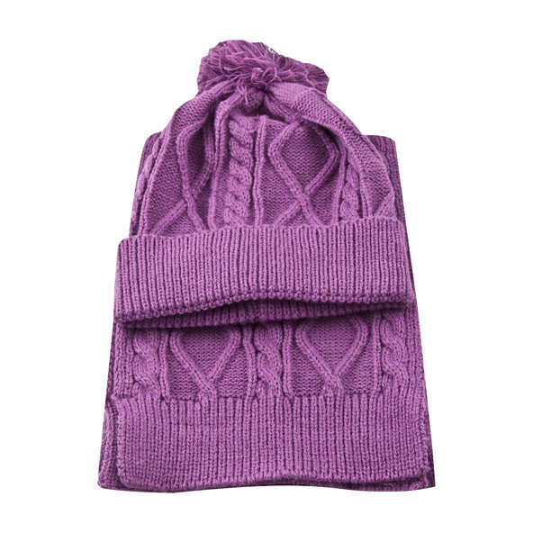 Riptear Girls' Scarf/Hat Set, Purple