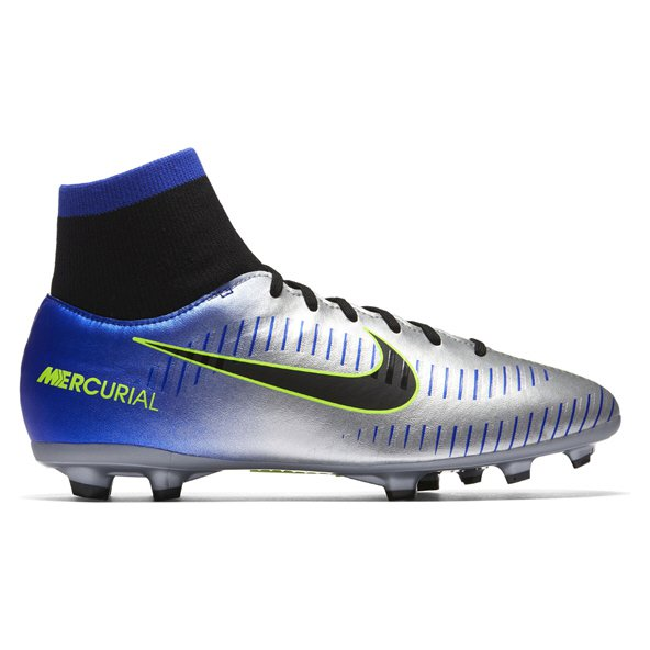 Nike Mercurial Victory VI NJR Kids' DF FG Football Boot, Blue