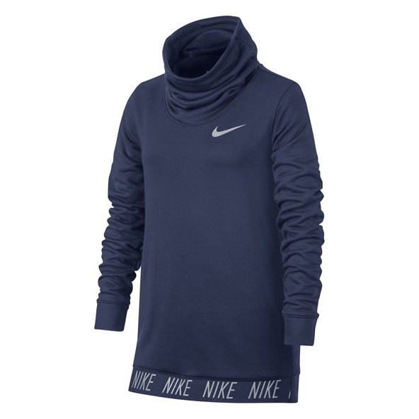 Nike Dry Studio GX Girls Hoody Blue
