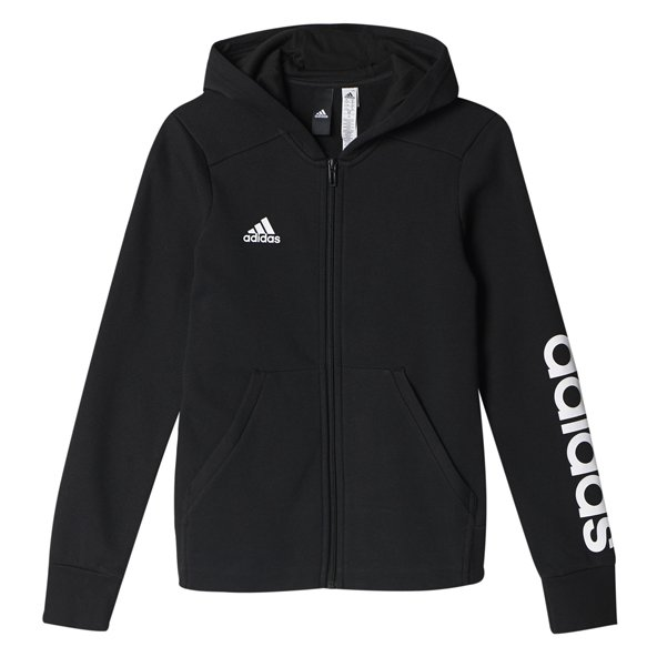 adidas Linear Girls FZ Hoody Black