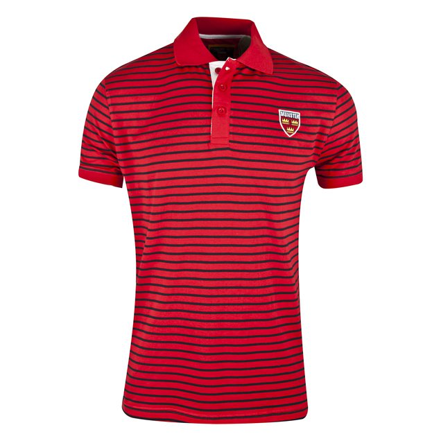 Tradcraft Munster Block Stripe Polo Red