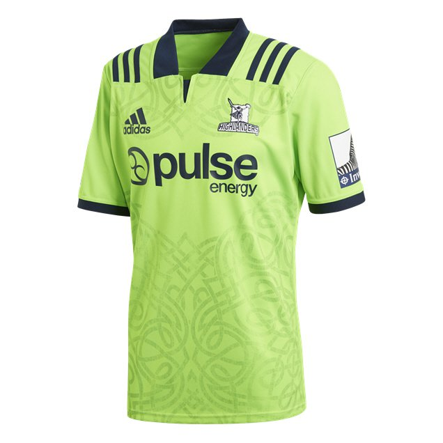adidas Highlanders 2018 Men's Away Jersey, Green
