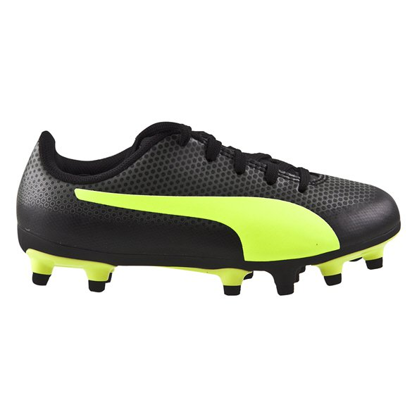 Puma Spirit Junior Firm Ground Football Boots Black/Yellow