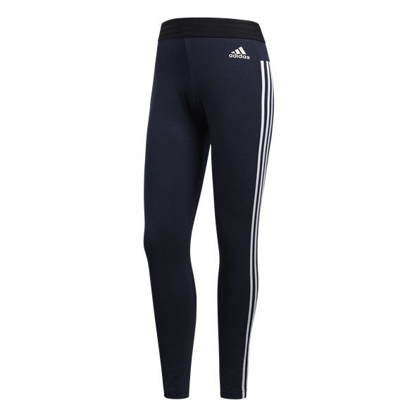 adidas Essentials 3 Stripe Womens Tight Navy/White