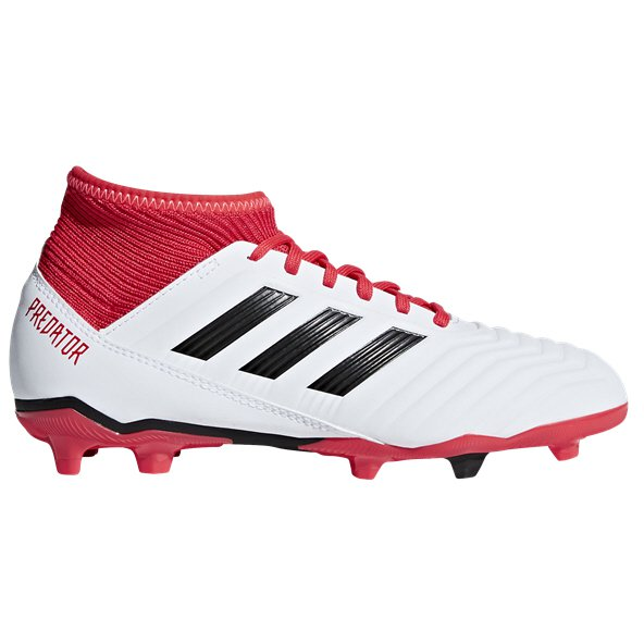 adidas Predator 18.3 FG Kids' Football Boot, White