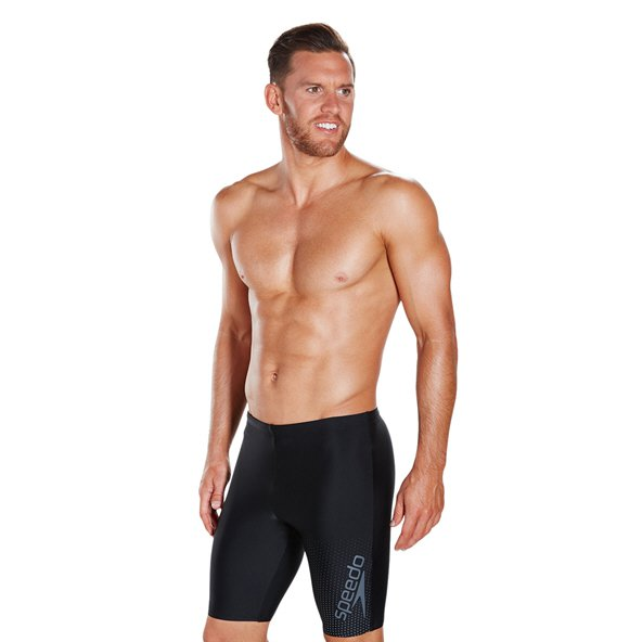 Speedo Gala Logo Men's Jammer Black/Charcoal