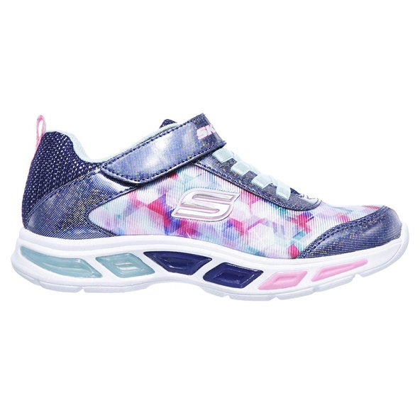 Skechers Lite Beams Junior Girls' Trainer, Navy