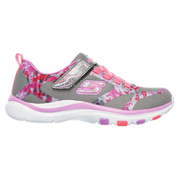 Skechers Bright Racer Junior Girls' Shoes, Grey