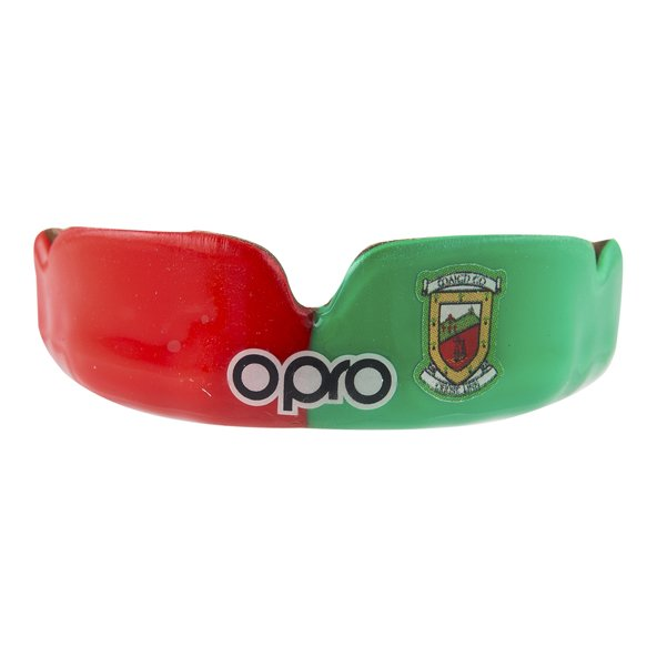 Opro Mayo Power Fit Senior Mouthguard, Green/Red