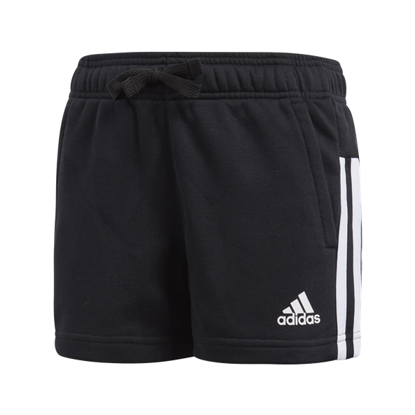 adidas 3 Stripe Mid Girls' Short, Black