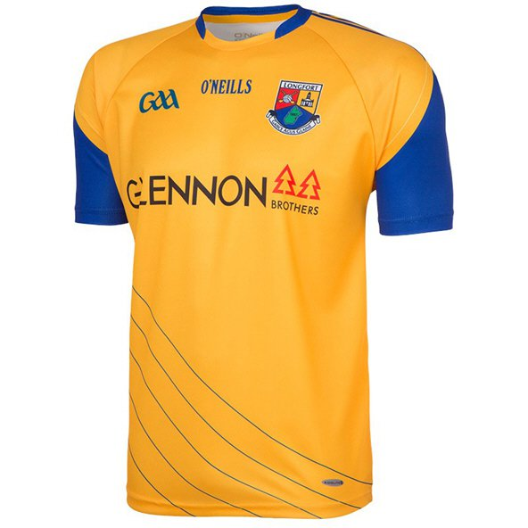 O'Neills Longford 2017 Kids' Away Jersey, Yellow