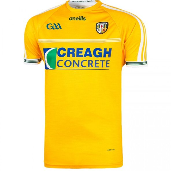 O'Neills Antrim 2018 Home Kids' Jersey, Yellow