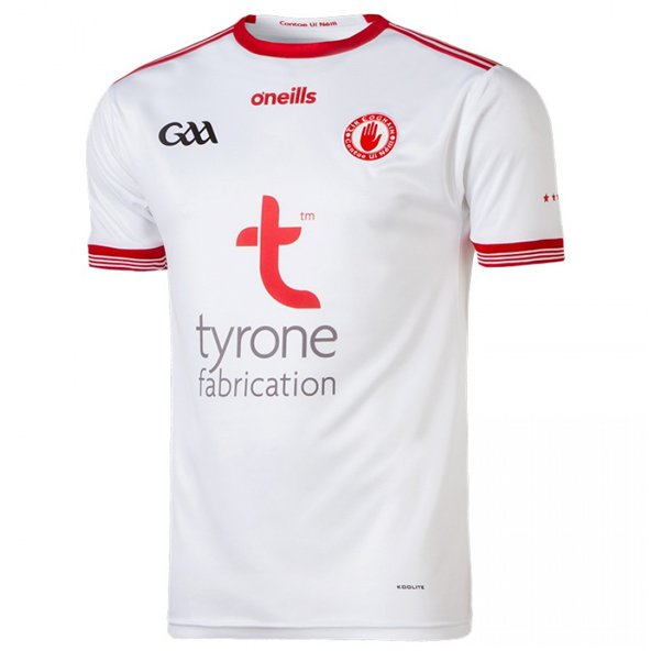 O'Neills Tyrone 2018 Kids' Home Jersey, White