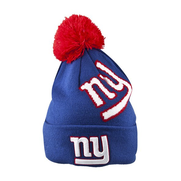NewEra Giants Bobble Beanie, Blue