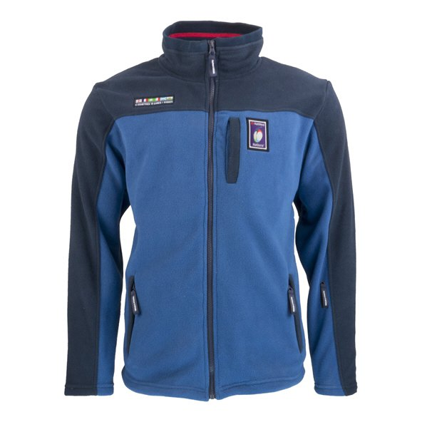 6 Nations 2018 Full Zip Fleece Jacket Navy