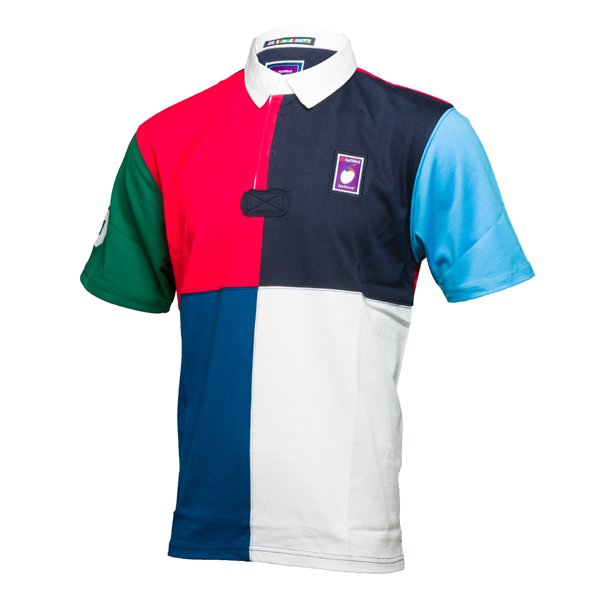 6 Nations 2018 Short Sleeve 1/4 Rugby Jersey Multi