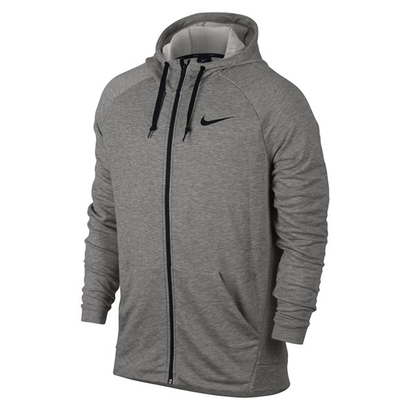 Nike Dry Fleece Men's Full Zip Hoody Dark Grey