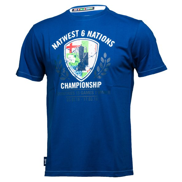6 Nations 2018 Trophy Shield Tee Royal