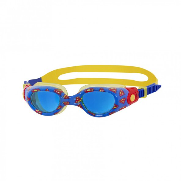 Zoggs Superman Kids Printed Goggles Blue