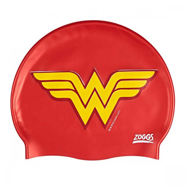 Zoggs® Wonder Woman Silicone Swim Cap, Red