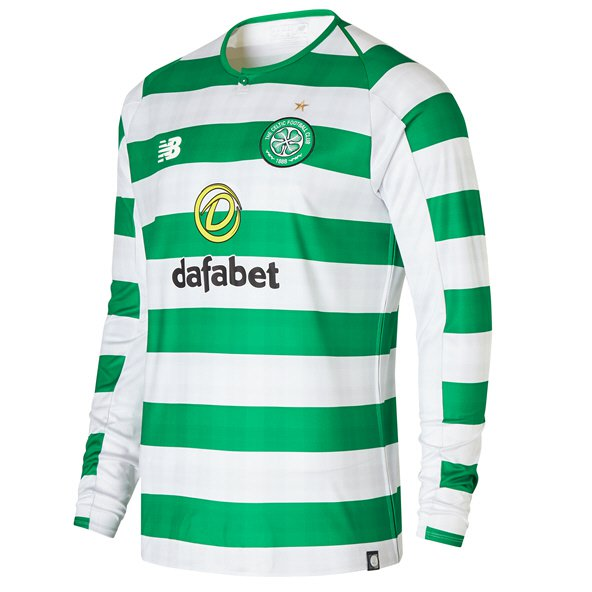 New Balance Celtic 2018/19 LS Home Jersey, Green