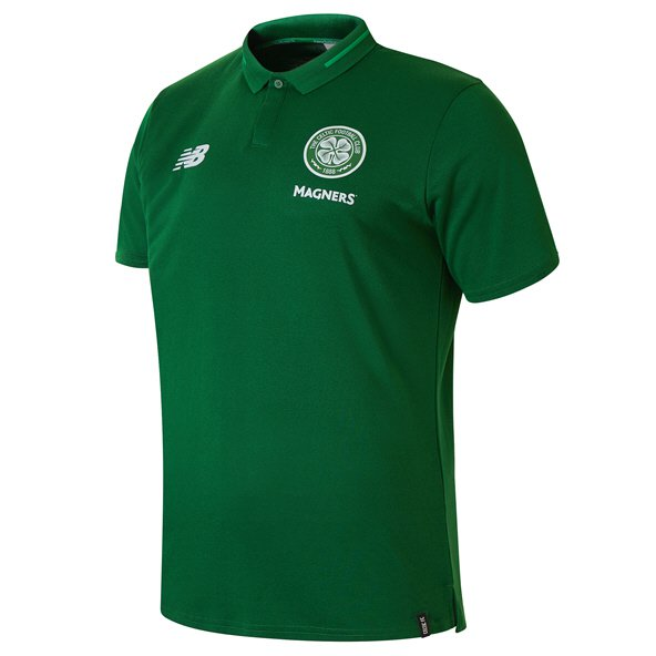 New Balance Celtic 2018/19 Leisure Polo, Green