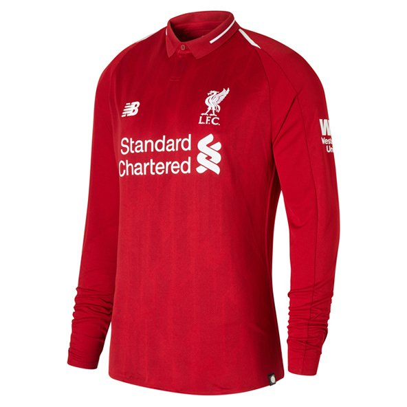 New Balance Liverpool 2018/19 LS Home Jersey, Red