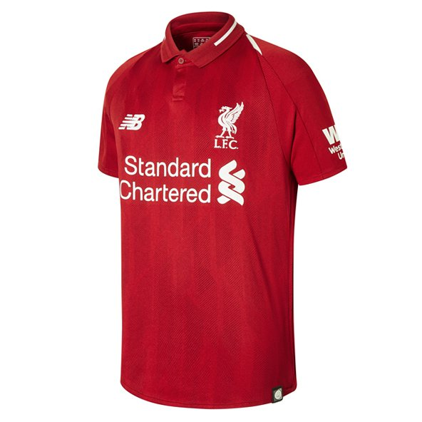 New Balance Liverpool 2018/19 Kids' Home Jersey, Red