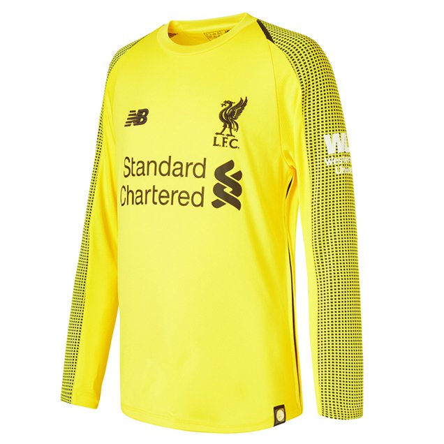 512d585a9 ... New Balance Liverpool 2018 19 Kids  Home Goalkeeper Jersey