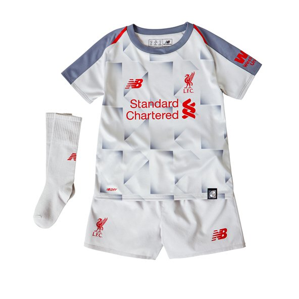 New Balance Liverpool 2018/19 3rd Infant Kit, Grey